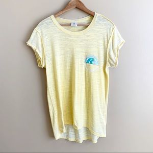 Free People | Make Waves Tee burn out T-shirt MED